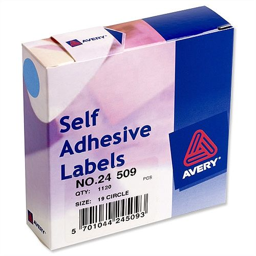 Avery 24-509 Label Dispenser for Diam.19mm Blue 1120 Labels