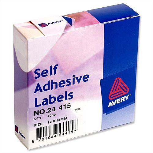 Avery White Label Dispenser 12x18mm 24-415 2000 Labels
