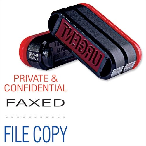 Trodat 3 in 1 Stacked Stamp Private &Confidential - Faxed - File 11162