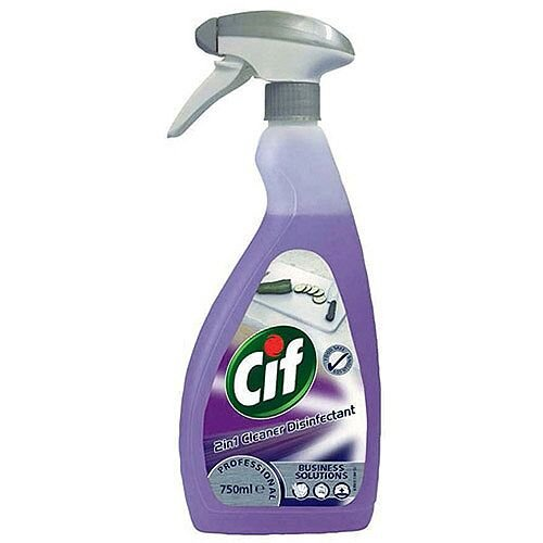 Cif Professional Spray 2 in 1 Cleaner and Disinfectant 750ml