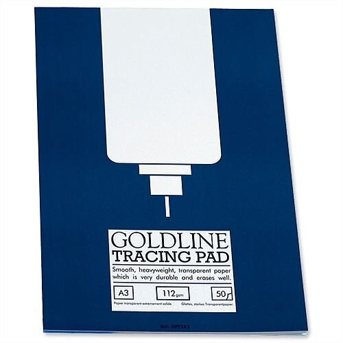 Goldline Heavyweight A3 Tracing Pad 50 Sheets GPT3A3Z