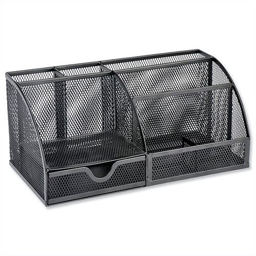 Mesh Large Desk Tidy Black Scratch Resistant Osco