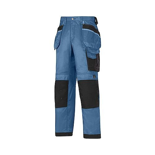 "Snickers 3212 Craftsmen 36""/35"" Holster Pocket Trousers DuraTwill Size 152 Blue/Black"