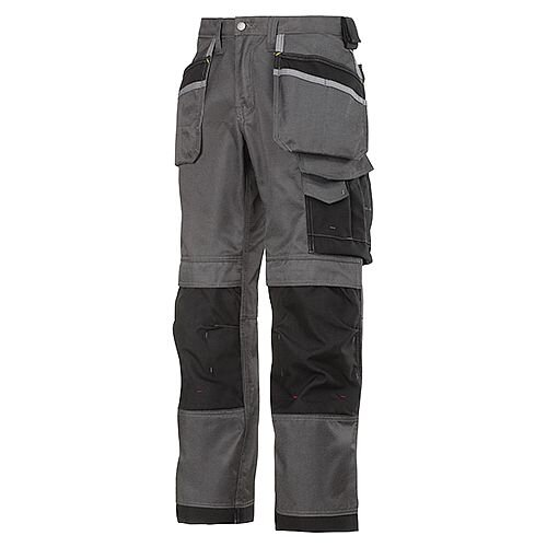 "Snickers 3212 Craftsmen 36""/35"" Holster Pocket Trousers DuraTwill Size 152 Muted Black/Black"