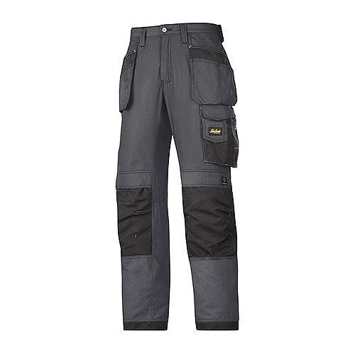Snickers 3213 Craftsmen Holster Pocket Trousers Rip-Stop Steel Grey/Black