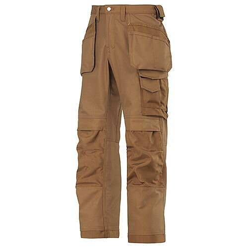 Snickers 3214 Canvas+ Trousers With Holster Pocket Brown