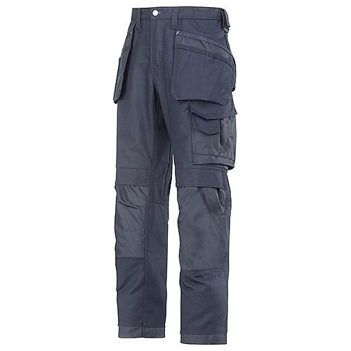 """Snickers 3214 Canvas+ Trousers With Holster Pocket Navy Waist 30"""" Inside leg 30"""""""