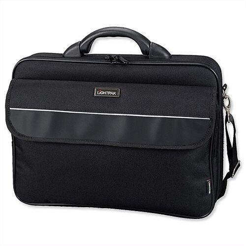 "Lightpak Elite Large Laptop Bag Nylon Capacity 17"" Black"