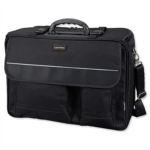 "Overnight Pilot Case Detachable 17"" Laptop Sleeve Black Nylon Lightpak The Flight"