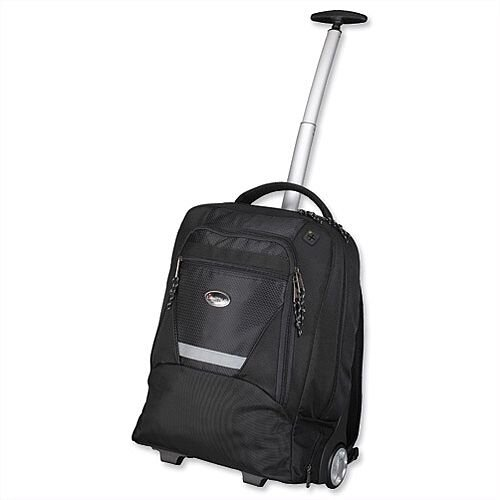 "Laptop Backpak Trolley 15.4"" Capacity Black Nylon Lightpak Master"