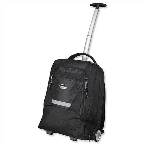 "Laptop Backpak Trolley 15.4"" Capacity Black Nylon Lightpak Master"