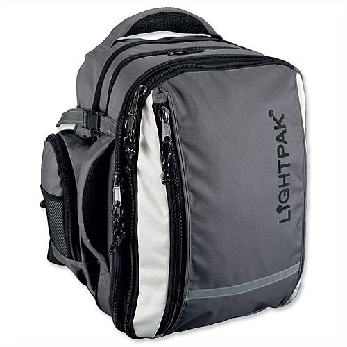 "Nylon Laptop Backpack Grey Detachable 17"" Laptop Backpack"