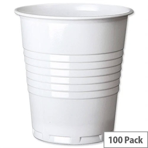 MyCafe Disposable Plastic Cold Drinks Cups Vending Machine Squat 7oz/200ml [Pack of 100]
