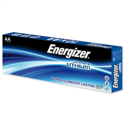 Energizer Ultimate AA Lithium Battery LR06 10 Pack – 1.5 Volt, Reliable, Wide Temperature Range, 15 Year Shelf Life, Cylindrical Size &Last 11 Times Longer Than Similar Batteries (634352)