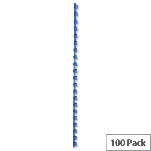 Binding Combs Plastic 21 Ring 55 Sheets A4 8mm Blue Pack 100 5 Star