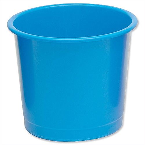 5 Star Office Waste Desk Bin Polypropylene 14 Litres D254xH304mm Blue