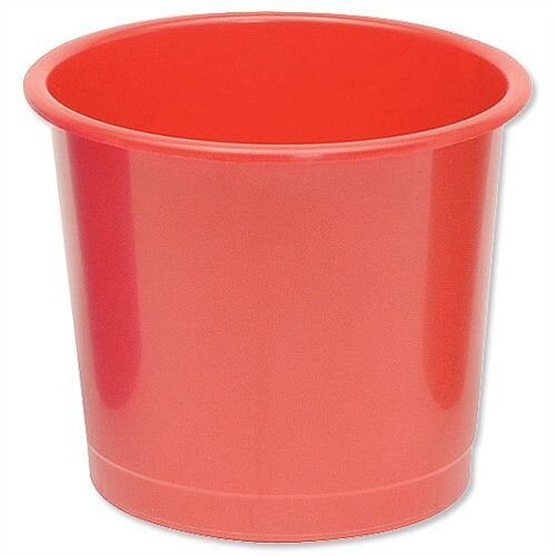5 Star Office Waste Desk Bin Polypropylene 14 Litres D254xH304mm Red