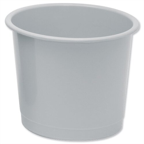 5 Star Office Waste Desk Bin Polypropylene 14 Litres D254xH304mm Grey