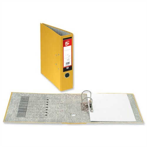 5 Star Office Lever Arch File 70mm Foolscap Yellow Pack 10