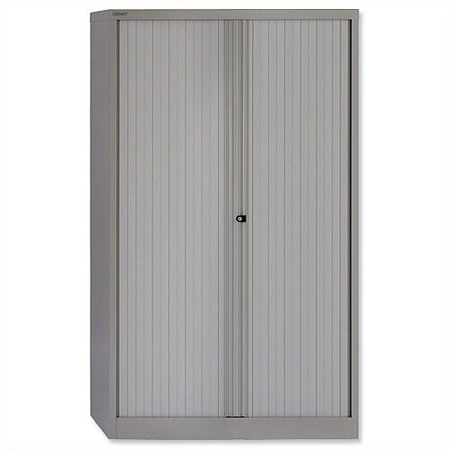 Bisley Tambour Cupboard Grey Steel Side-Opening W1000xD470xH1651mm AST65W-73