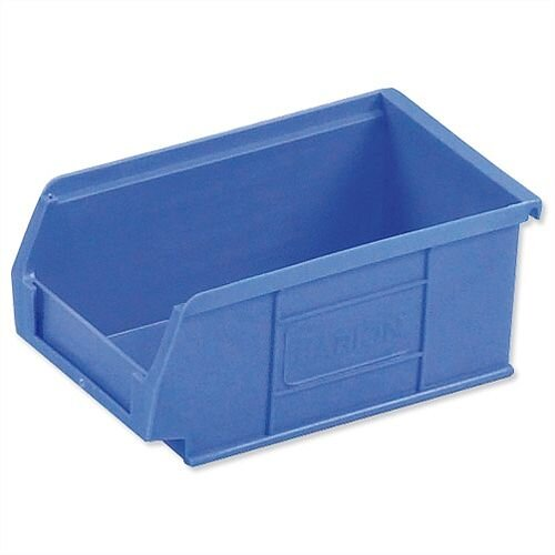 Barton TC2 Container Bin Heavy Duty Polypropylene W165xD100xH75mm Blue Pack 20