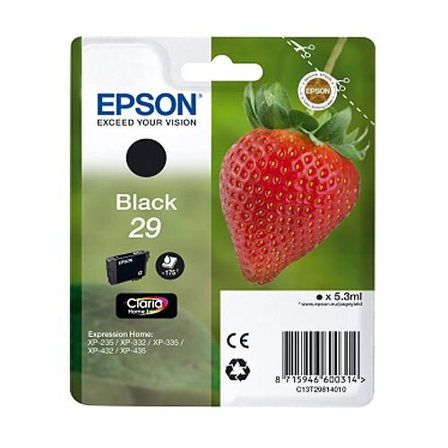 Epson 29 (T2981) Black Inkjet Cartridge Strawberry Series C13T29814010 / T2981 C13T29814012