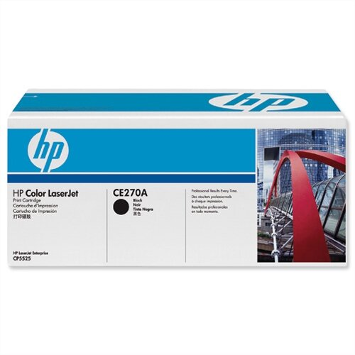 HP 650A Black LaserJet Toner Cartridge CE270A