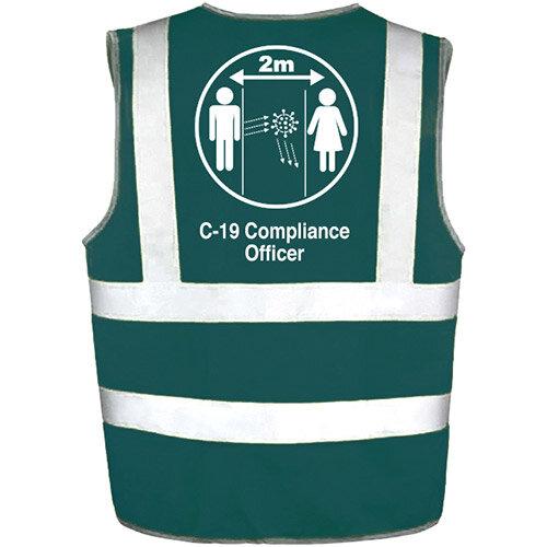 Hi Vis Vest Green XLarge C-19 Compliance Officer Ref: 35231-7-XL