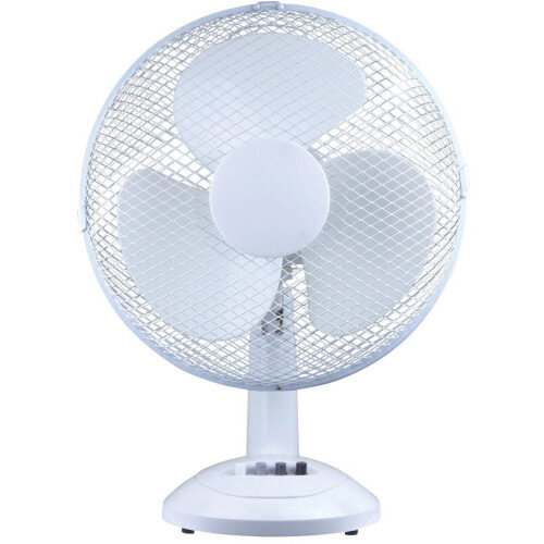 Office Desk Fan Oscillating Tilt and Lock H500mm Dia.305mm 5 Star