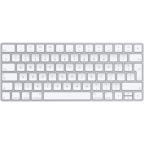 Apple Magic Wireless Bluetooth Qwerty Keyboard - Lightning Cable, Long Battery Life, Immediate Mac Connection, Enhanced Keyboard Stability (MLA22B/A)