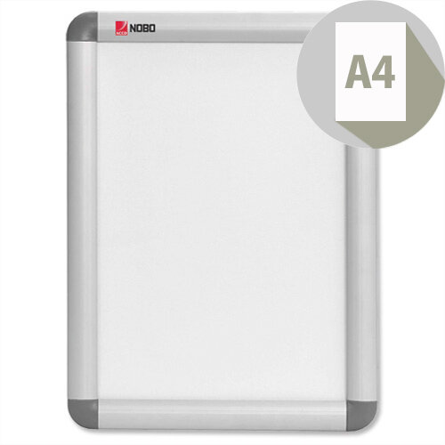 Nobo A4 Clip-down Frame Moulded Aluminium Front-opening 297x210mm