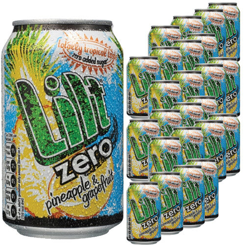 Lilt Zero Diet Pineapple and Grapefruit Soft Fizzy Drink Cans 330ml (Pack 24)