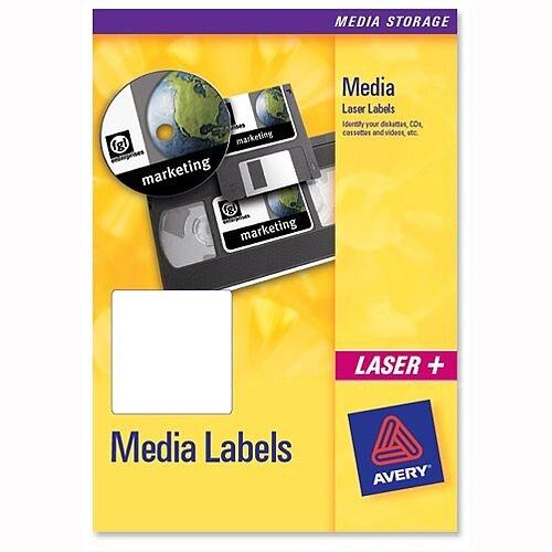 Avery 3.5 inch Disk Labels Laser 10 per Sheet 70x52mm L7666-25 250 Labels