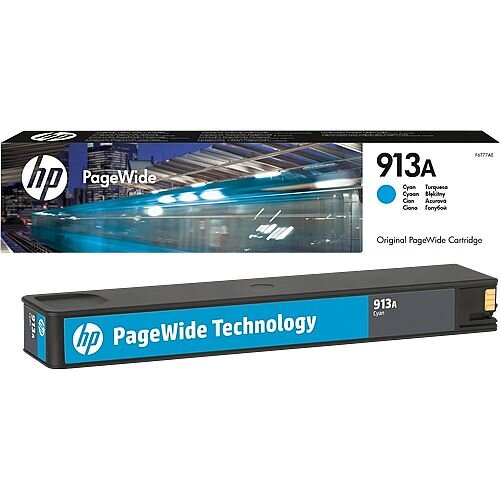 HP 913A Cyan PageWide Ink Cartridge F6T77AE