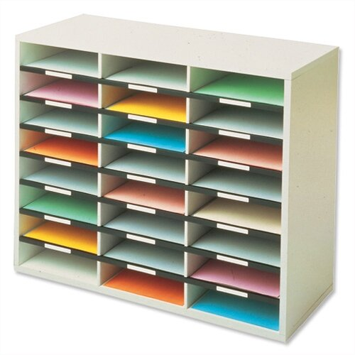 Fellowes Mailroom Sorter Literature Sorter A4 24 Compartment Dove Grey