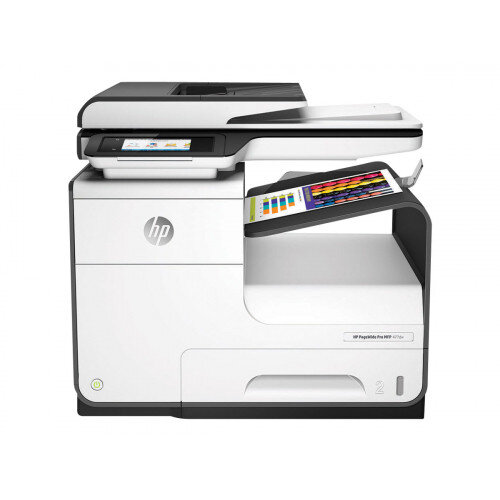 HP PageWide Pro 477dw - Multifunction printer - colour - ink-jet - Legal (216 x 356 mm) (original) - A4/Legal (media) - up to 55 ppm (copying) - up to 55 ppm (printing) - 500 sheets - 33.6 Kbps - USB 2.0, LAN, Wi-Fi(n), NFC, USB 2.0 host