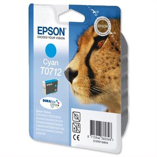 Epson (T0712) Cyan Ink Cartridge Cheetah Series (C13T07124010) (C13T07124012)