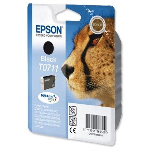 Epson (T0711) Black Ink Cartridge Cheetah Series (C13T07114012) (C13T07114010)