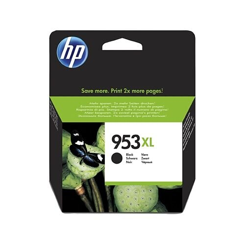 HP 953XL Black High Capacity Ink Cartridge – Approx 2,00 Page Capacity, 42.5ml Capacity, Compatible With HP Officejet Printers, Eco-Friendly &Fade and Water Resistant (L0S70AE)