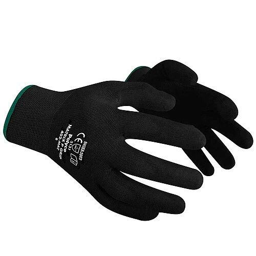 Polyco Gloves Seamless Polyurethane Palm Breathable Black Size 8 S/M-Men or L-Women Pack 12 Ref 402-MAT