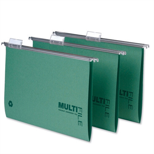 Rexel Multifile A4 Suspension File 15mm Green - 1 x Pack of 50 Suspension Files Ref 78617