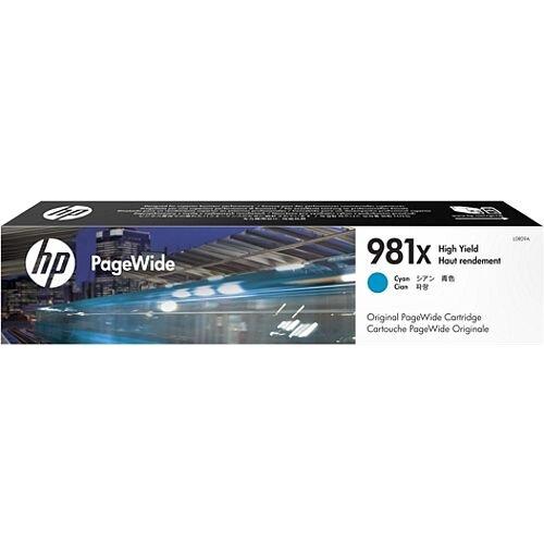 HP 981X Cyan High Capacity PageWide Ink Cartridge L0R09A