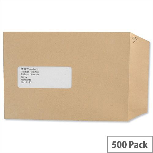 Basildon Bond Window C5 Manilla 90gsm Envelopes Peel and Seal Pocket Pack 500 Ref E80190