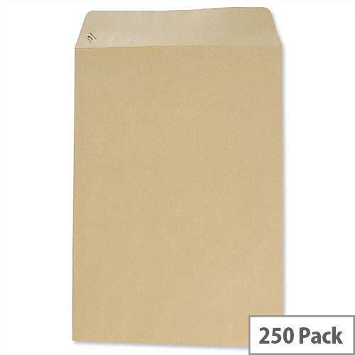 Basildon Bond C4 90gsm Envelopes Manilla Pocket Peel and Seal Pack 250 Ref C80191