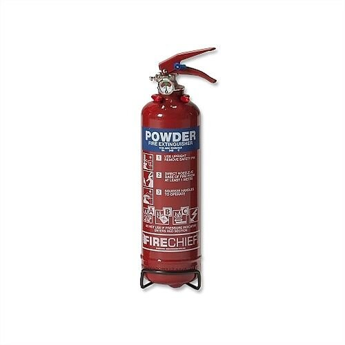IVG Fire Chief Dry Powder 1kg Fire Extinguisher Refillable for Class ABC Guardian Ref IVGS1.0KG FM01010