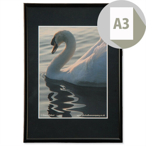A3 Black Frame Back Loading Photo Album Company