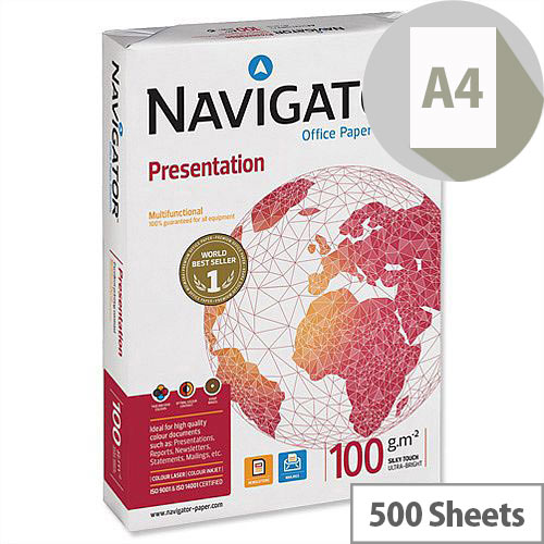 Navigator Presentation Printer Paper A4 100gsm White 500 Sheets