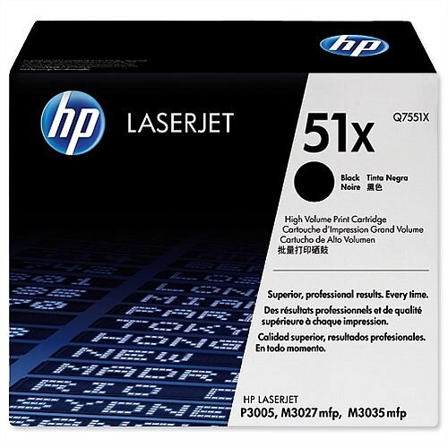HP 51X Black High Yield LaserJet Toner Cartridge Q7551X