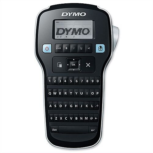 Dymo Labelmanager 160P Laber Maker Black - Preview text in the large LCD display - For use with Dymo D1 labels