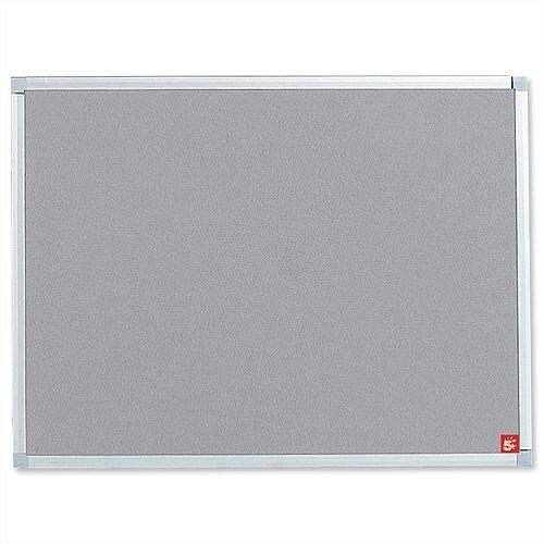 Grey Notice Board Aluminium Trim with Fixings 900 x 600mm 5 Star